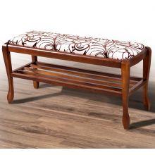 Банкетка Микс мебель Сиеста New с полкой 45x33x110