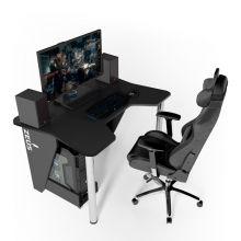 Геймерский игровой стол ZEUS™ IGROK-3, черный/черный                                         .