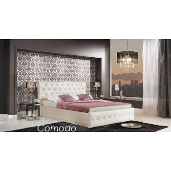 Кровать Comodo с пуговицами и подъемным механизмом 180x200 см
