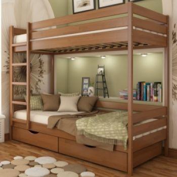 Детская двухъярусная кровать Дуэт щит 80*190