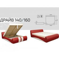 Кровать Вика Драйв 140x200 с матрасом и подъемным механизмом