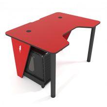 Геймерский игровой стол ZEUS™ IVAR-1400, красный/черный