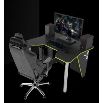 Геймерский игровой стол ZEUS™ IGROK-3, черный/зеленый                                                     .