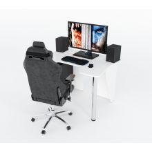 Геймерский игровой стол ZEUS™ IGROK-3, белый                                                              .