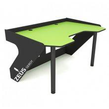 Геймерский эргономичный стол ZEUS™ GEROY, зелено-черный