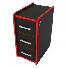 Мобильная тумба ZEUS™ T-Box, черный/красный