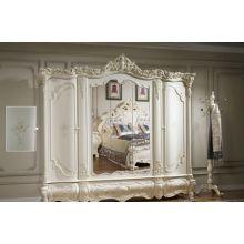 Шкаф распашной Венеция 5-ти дверный (белый)