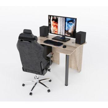 Геймерский игровой стол ZEUS™ IGROK-3, сонома