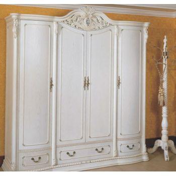 Шкаф распашной V0902 4-х дверный белый