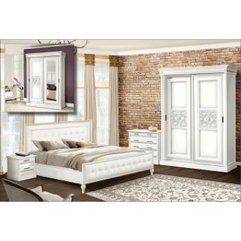 Спальня наборная «С-2» Белый/серебро